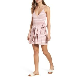 BP | Pink V Neck Wrap Romper